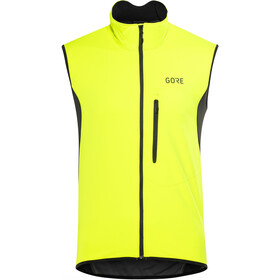GORE WEAR C3 Windstopper Liivi Miehet, neon yellow/black